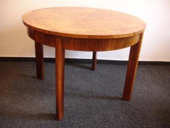 Dining Table - walnut veneer, French polish - 1935