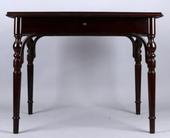 Dining Table - black beech, bent beech - Thonet Bohemia - 1930